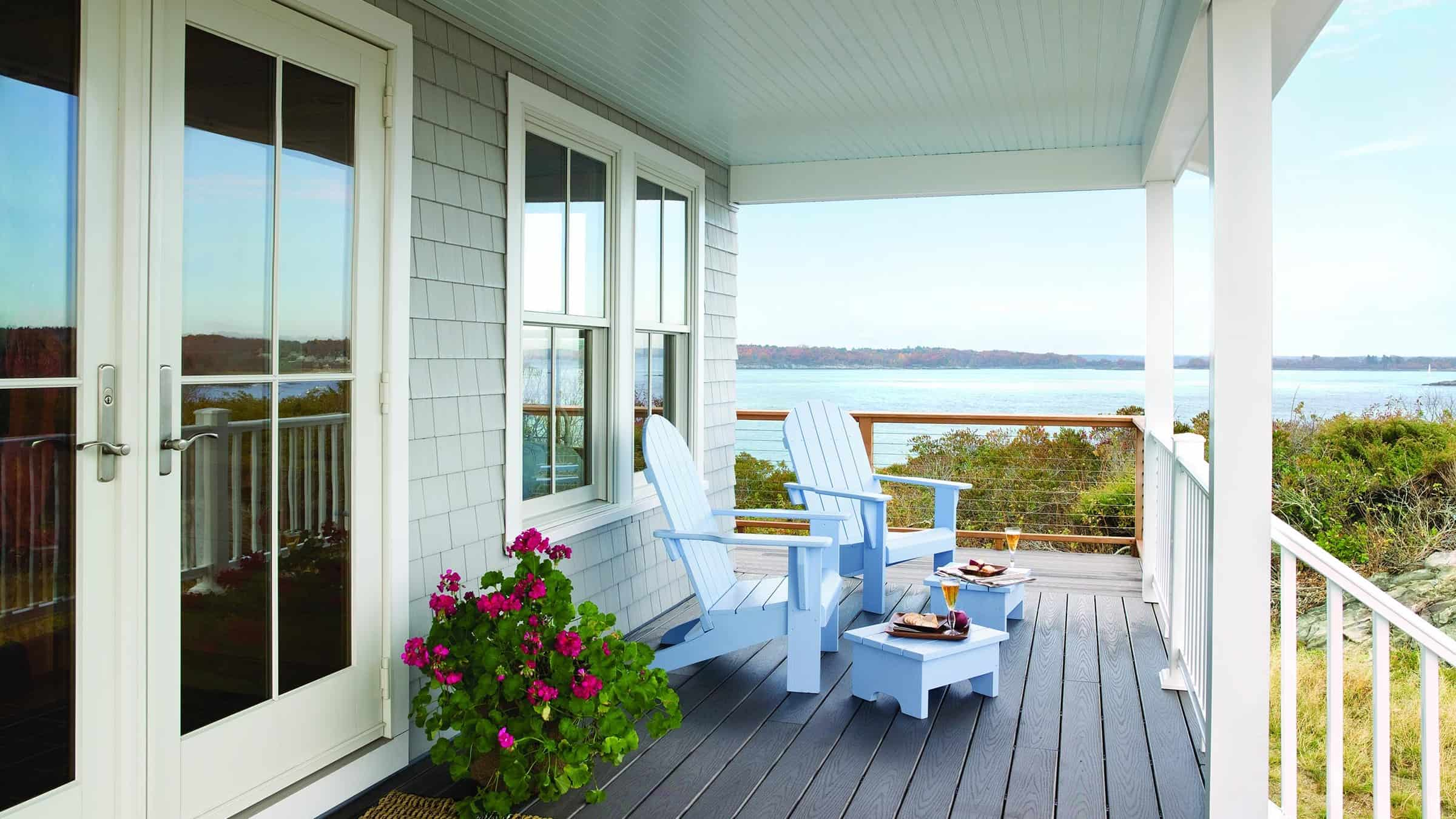 andersen windows with a lake view