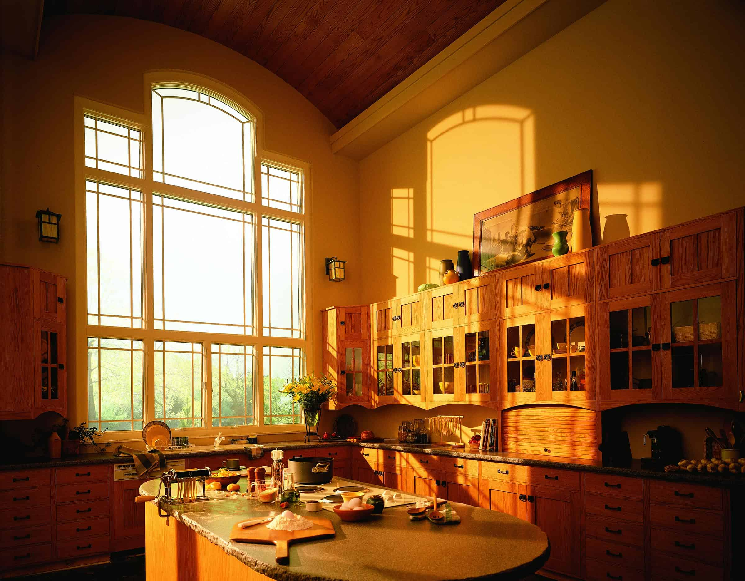 Andersen large Windows kitchen