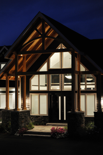 night entry door and windows exterior