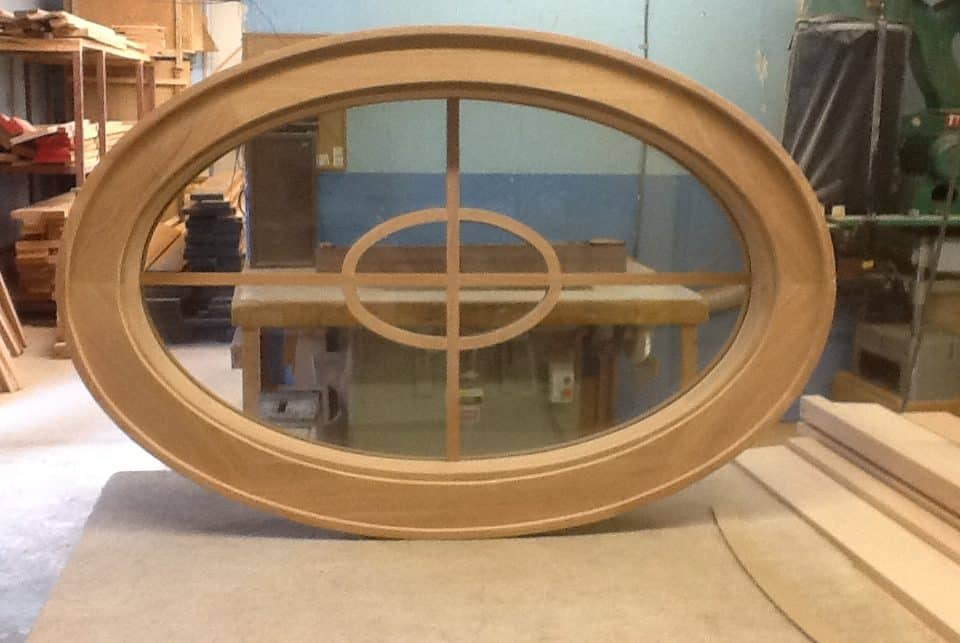 camwood oval window