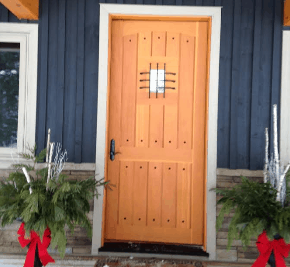 Camewood entry wood door