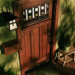 solid wooden entry door